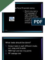 Valleylab Force FX - Testing Procedure