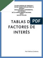 Tablas de Factores de Interes 0.25 Al 10