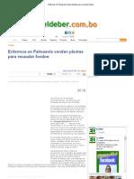 Enfermos en Palmasola Venden Plantas Para Recaudar Fondos