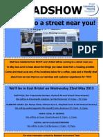 East Bristol Roadshow Poster