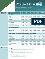 Weekly Market Briefing (May 07 -May 13, 2013)