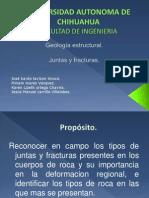 Presentacion de Geologia Juntas y Fracturas