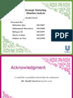 Assignment 2 (Strategic Marketing)