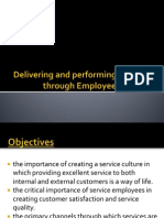 Final-customer Participation in Service Delivery