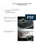 Rear Reflector for Mazda 6 Installation Instructions