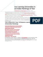 Top 10 Distance Learning Universities in India 2013 Best Indian Rankings of Year