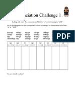 Pronunciation Challenge 001
