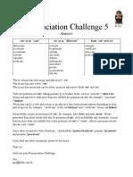 Pronunciation Challenge 005 Answer