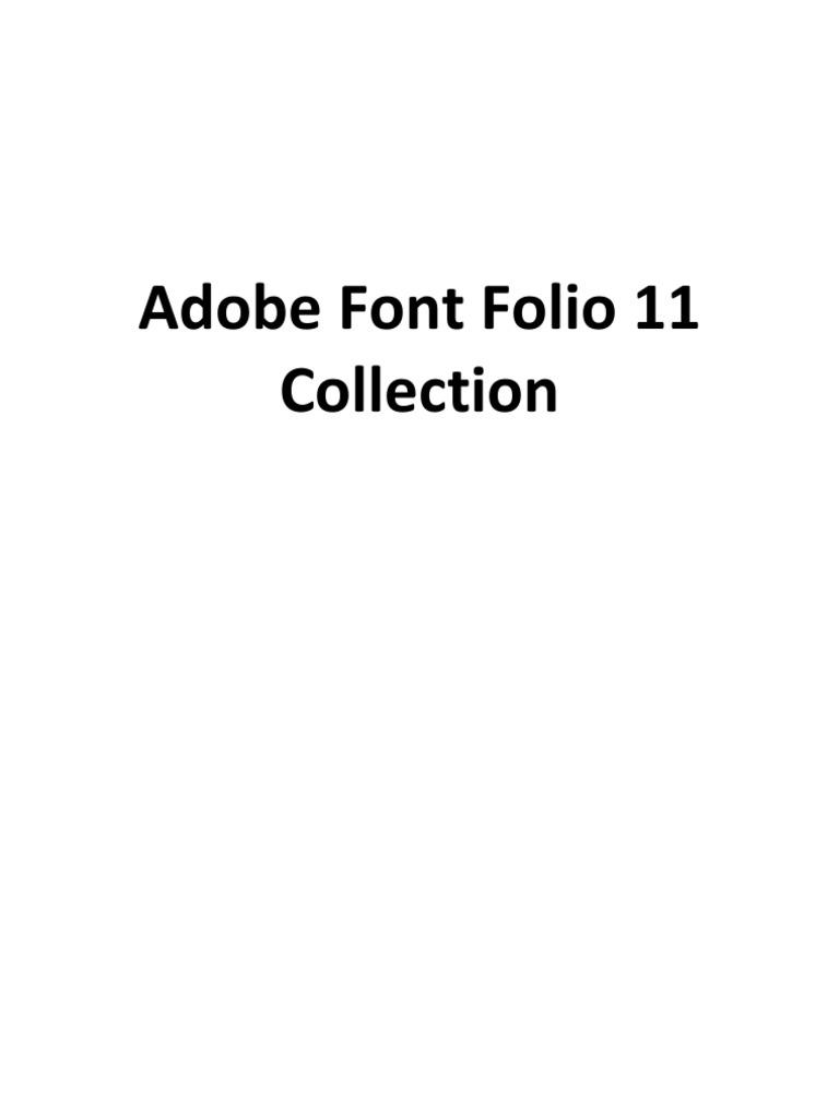 Adobe Font Folio 11 - Font Collection