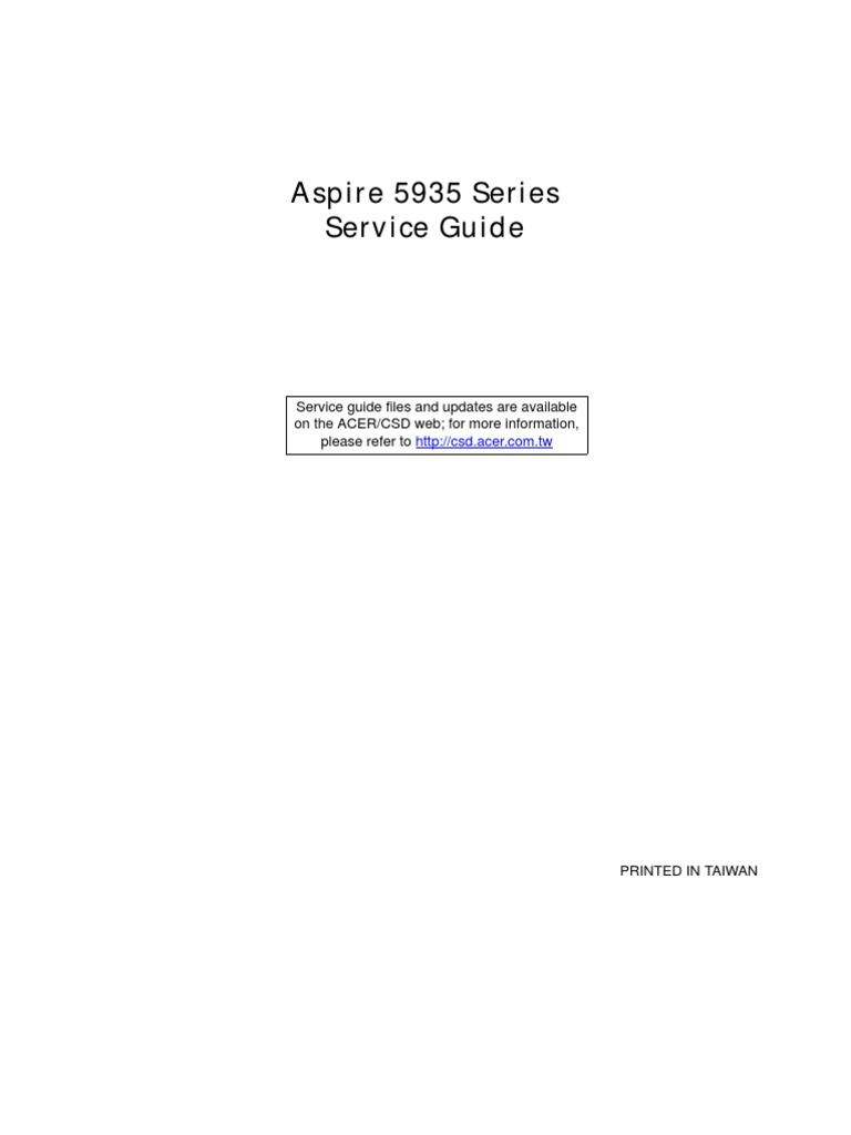 Aspire 5935 5935g Sm50 Mv Service Manual Guide Sg 032709 Nokia 9300 Keyboard Shortcut Computer