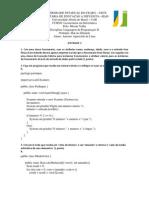 Atividade 2 Linguagem de Programacao II Antonio de Lima