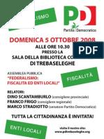 Manifesto Assemblea 5 Ottobre 2008