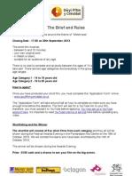 Gwyl Ffilm y Crinddail - Brief and Rules
