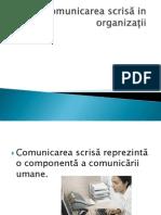 Comunicarea Scrisa in Organizatii