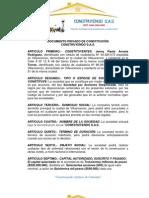 DOCUMENTO PRIVADO DE CONSTITUCIÓN S.A.S