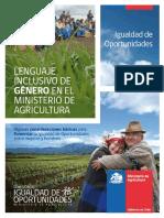 Lenguaje Inclusivo en El Ministerio de Agricultura