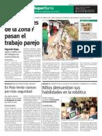 superbarrio 15 mayo Zona F niños robótica. Palo verde