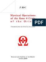 Mystical Operations of the Rose Croix of the Orient