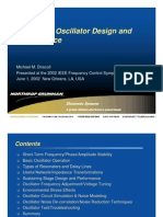 Low Noise Oscillator Design and Performance - M.M.Driscoll