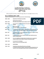 Iraq Biotechnology Conference May 7 -9 Agenda ENGLISH