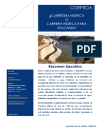 Corpros, Megaproyecto Carretera Hidrica Norte de Chile