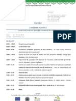 Agenda Conferintei Tematice Nr. 2