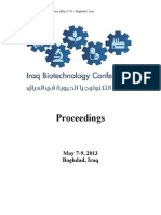 Iraq Biotechnology Conference Abstracts 7-9 May 2013