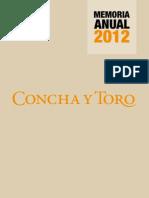 Memoria Concha y Toro 2012