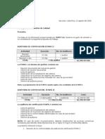 Costo de Certificacion