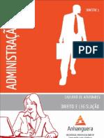 Cead 20131 Administracao Pr - Administracao - Direito e Legislacao - Nr (a2ead061) Caderno de Atividades Impressao Adm3 Direito Lesgislacao