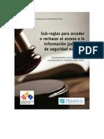 Sub Reglas para acceso información judicial y de seguridad nacional