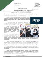 28/04/11 Germán Tenorio Vasconcelos ENTREGA SECRETARIO DE SALUD AMBULANCIA A SAN AGUSTÍN CHAYUCO, JAMILTEPEC