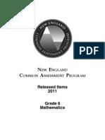 EDU-NECAP 2011 Released Items Grade 6 Math