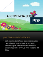 Abstinencia Sexual y Pf