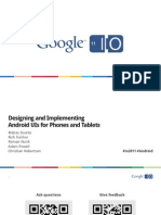 Designing and Implementing Android Uis for Phones and Tablets