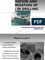 Burr Formation and Minimisation in Drilling