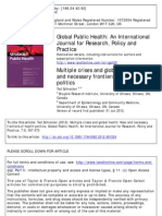 Multiple Crises and Global Health New and Necessary Frontiers of Health Politics