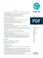 Cindy Lee Resume May2013