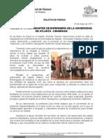 10/05/11 Germán Tenorio Vasconcelos Recibe GTV a estudiantes de enfermería de la Universidad de Atlanta-Kennesaw