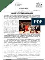 16/05/11 Germán Tenorio Vasconcelos INICIA SSO JORNADA DE CAPACITACION DIRIGIDO AL PERSONAL DE ENFERMERÍA