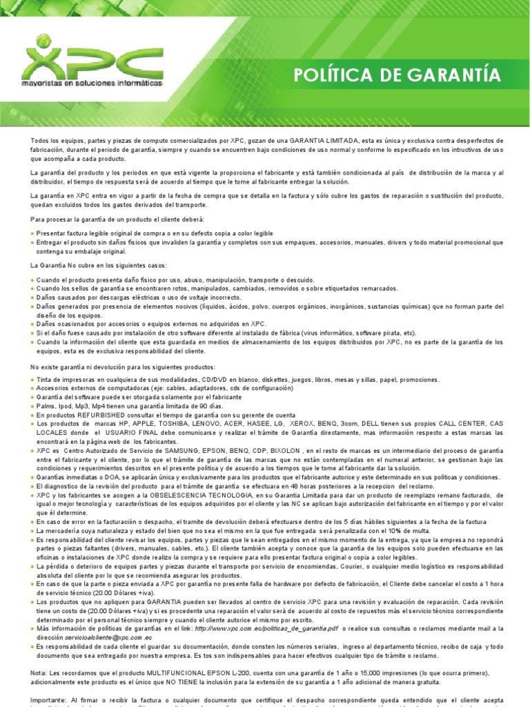 Politicas de Garantia 614409c533