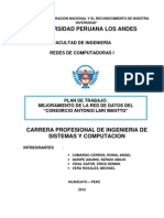 Plan de Trabajo Implementacion Red