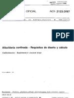 NCh 2123 Of97 Albaileraconfinada Requisitos de Diseo y Clculo