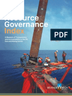 Resource Governance Index 2013