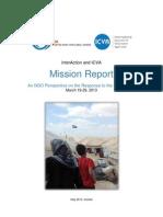 Syria Trip - Mission Report