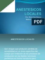 K.- Medicina Anestésicos Locales