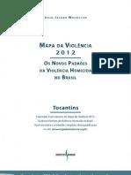 MAPA DA VIOLÊNCIA NO TOCANTINS