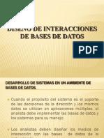 DISEÑO DE INTERACCIONES DE BASES DE DATOS