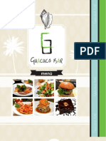 Guacuco Bar Menu