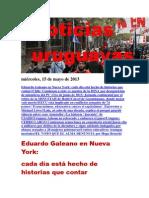 Noticias Uruguayas miércoles 15 de mayo del 2013